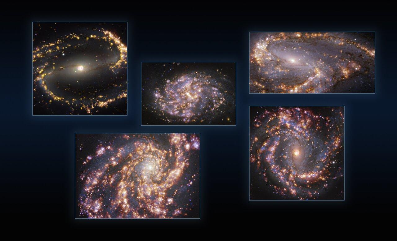 Galaktisches Feuerwerk: Neue ESO-Bilder enthüllen eindrucksvolle Details von nahen Galaxien