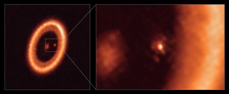Erstmaliger eindeutiger Nachweis einer mondbildenden Scheibe um einen Exoplaneten