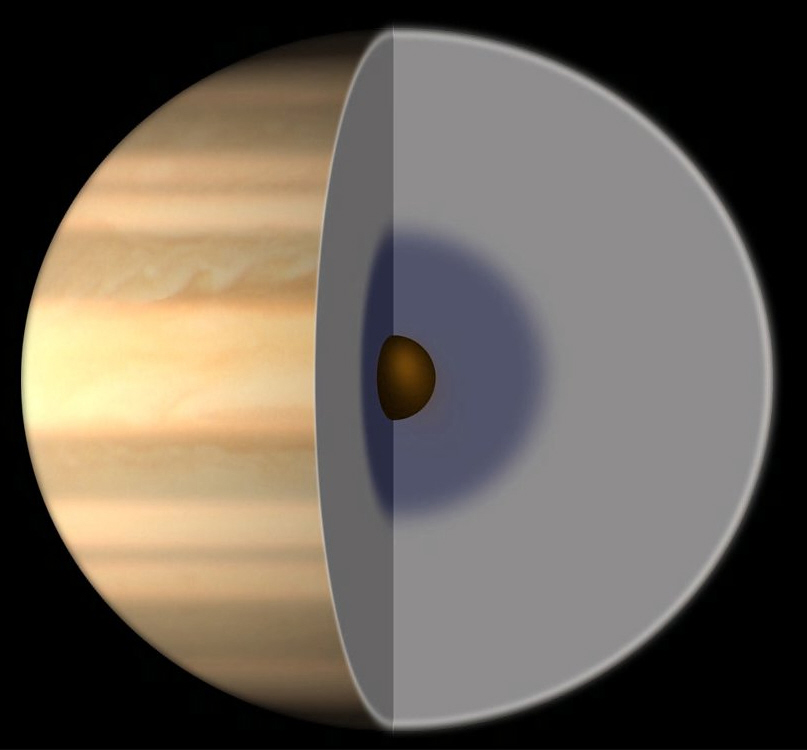 What does jupiter look like from saturn 10